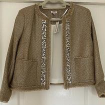 River Island Beige/gold Chanel Style Jacket Size 14 Nwt Photo