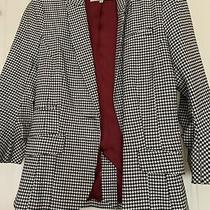 River Island Black/white Dogtooth Blazer Size 8 Excellent Condition Was 60aprox Photo