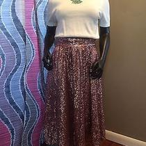 River Island Pink Sequin Below Knee Skirt 4 Urban Outfitters Photo
