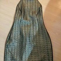 River Island Rihanna Gold Metalic Dress Size 8 Excellent Condition Photo