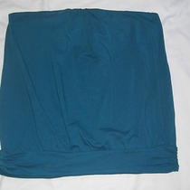 rk) the Limited Blue Aqua Strapless Cotton Knit Tank Top Cami M  Photo