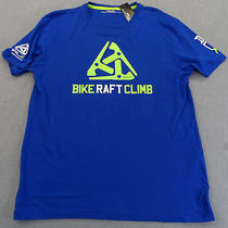 Rlx Logo Ralph Lauren Men Blue Bike Raft  Climb Outdoor Athletic Shirt Nwt S 45 Photo