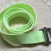 Rlx Ralph Lauren Bright Neon Yellow Ladies Belt Size Large Photo