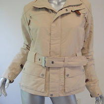 Rlx Ralph Lauren Khaki Belted Jacket With Brown Leather Straps Medium Photo