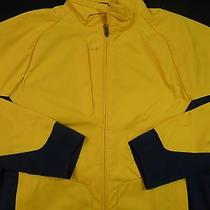 Rlx Ralph Lauren  Performance Jacket in  Yellow Trimmed in Navy Size Medium  Photo