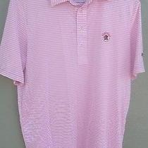 Rlx Ralph Lauren Pink Stripe Golf Shirt With Seminole Golf Club Logo Size Medium Photo