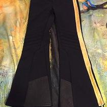 Rlx Ralph Lauren Womens Black Gold Stripes Ski Snowboard Pants Size Small Nice Photo