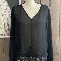 Robert Rodriguez 100% Black Silk Long Sleeve Size 6 Photo