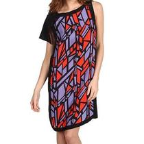 Robert Rodriguez (6) Stained Glass Stripe Dress Cerise /lavender Nwt Photo