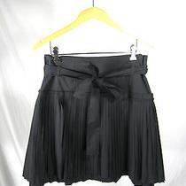Robert Rodriguez Black Pleated Mini Skirt Size 10 Photo