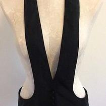 Robert Rodriguez Black Vest Waistcoat 8 Modern Structured  Photo