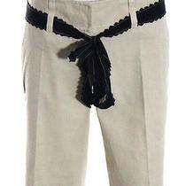 Robert Rodriguez Light Brown Linen Mid Rise Pleated 4 Pocket Bermuda Shorts Sz 4 Photo