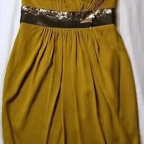 Robert Rodriguez Silk Yellow Strapless Mini Dress Size 2 Photo