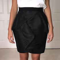 Robert Rodriguez Size 4 Black Taffeta Skirt Photo
