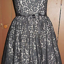 Robert Rodriguez Sz 2 Target/neiman Marcus Black Lace Short Formal Dress  Photo