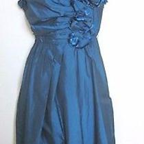 Robert Rodriguez Taffeta Flower Dress in Blue- Sz 4 Photo