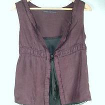 Robert Rodriguez Twinset Style 100% Silk Brown Black Shirt Top S Photo