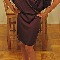 Robert Rodriguez Wine Colored Silk Wrap Dress Size 2 Photo