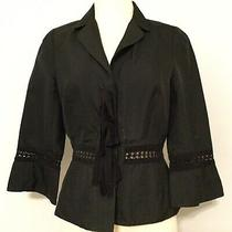 Robert Rodriguez Women's Size 10 Blazer Black Long Sleeve Snap Button Lined Photo