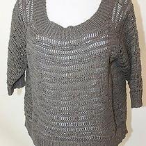 Robert Rodriguez Womens Gray Open Knit Sweater Sz Xs Photo