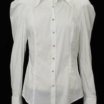 Robert Rodriquez White Cotton Blend Button Up Shirt Size 8 Photo