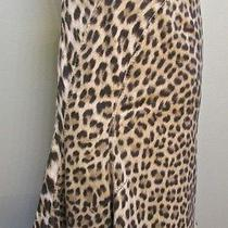Roberto Cavalli 42 Fluted Skirt Animal Leopard Cheetah Signed Print  Photo