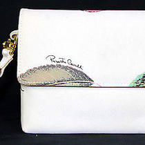 Roberto Cavalli 538 Nwt Strawberry Print Satin Snake Bracelet Clutch Bag Photo