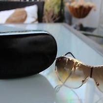 Roberto Cavalli Achille Gold Sunglasses Case 215s Aviator Rhinestones Greenlens Photo