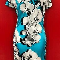 Roberto Cavalli Bold Orchid Print Bodycon Side Lace Up Glamour Dress Italy Sz 40 Photo
