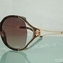 Roberto Cavalli Clerodendro 669s 53f Dark Havana & Gold Sunglasses Size 62 Photo