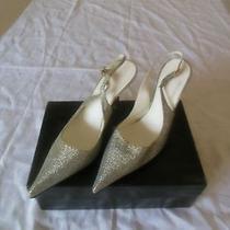 Roberto Cavalli Evening-/wedding Shoes Silver/blue Photo