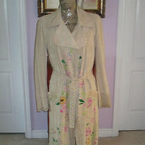 Roberto Cavalli Floral Painted Trench Coat It38 Nwt 7k Photo