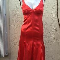 Roberto Cavalli Gorgeous Sexy Silky Spandex Hot Red Corset Dress Sz M Photo