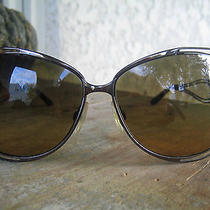 Roberto Cavalli Ladies Sunglasses Dark Bronze Metal Gold Mica and Smoke Lenses Photo
