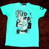 Roberto Cavalli Mens T-Shirt  Small - Aqua/green / 100% Cotton - Like New  Photo