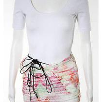 Roberto Cavalli Multicolor Abstract Print Braided Tie Wrap Skirt Sz S Photo