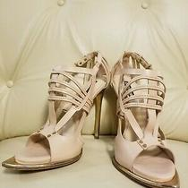 Roberto Cavalli Nude Leather Strappy Sandals Heels Shoes Size 9 Photo