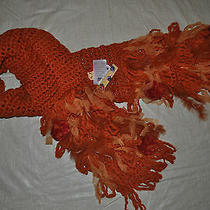 Roberto Cavalli Orange Acrylic & Wool Specialty Scarf (1size) Msrp  200.00 Photo