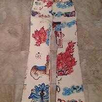 Roberto Cavalli Painted Jeans Asian Print Collectors Item  Photo