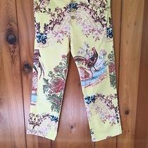 Roberto Cavalli Rare Floral Capri Pants - Unique and Beautiful - Small Photo