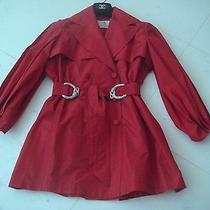 Roberto Cavalli Red Taffeta Opera Coat Photo