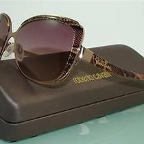 Roberto Cavalli Rosmarino 654s 47f Brown Snake Bronze Sunglasses Brown Shaded Photo