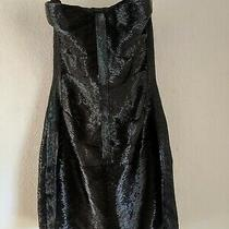 Roberto Cavalli Silk Chiffon Beaded Dress Strapless Corset Black 40 Euro Sexy Photo