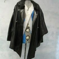 Roberto Fabris Paris Assymetric Fur  Lamb Leather Runway Jacket Sz L Photo
