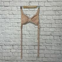 Robin Piccone Small Bikini Top Blush Pink New String Bikini Ties Swim Womens  Photo