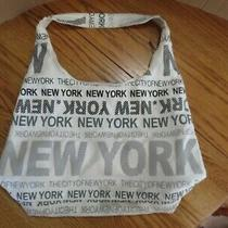 Robin Ruth New York City Large Zip Purse Hobo Shoulder Bag White Gray Photo