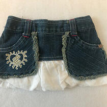 Rocawear Baby Girl Denim Jean With White Cotton Bubble Skirt Sz 0/6 Mths  Photo
