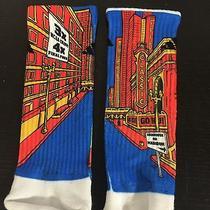 Rock 'Em Custom Adidas Kansas Inspired Socks - L - 1034 Photo