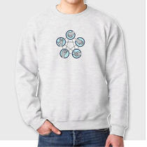Rock Paper Scissors Funny Lizard Spock Tvs Big Bang Theory Crew Neck Sweatshirt Photo