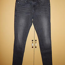 Rock & Republic Black Gray Wash Skinny Jeans Size 29 Bling Crown Pockets Euc Photo